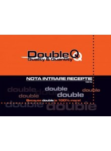 Nota intrare receptie A4 100 file/top Double Q