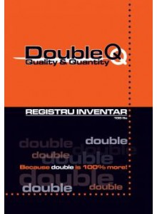 Registru inventar A4 100 file, Double Q