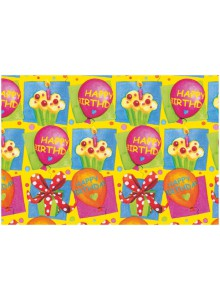 HARTIE IMPACHETAT 2M*70CM HAPPY BIRTHDAY