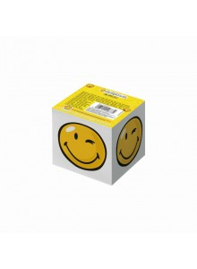 BLOC NOTITE 8X8X7CM 700 FILE ALB MODEL SMILEY WORLD