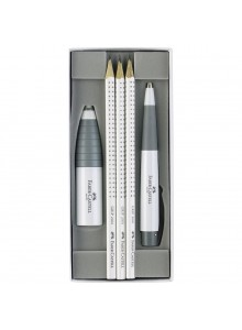 SET CADOU WHITE EDITION FABER-CASTELL