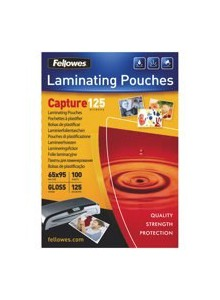 FOLIE 65X95MM 125 MICRONI 100/TOP FELLOWES