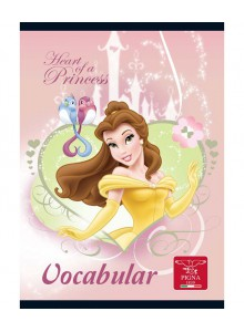 Caiet Capsat 12x17cm 24 Vocabular Princess