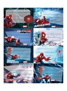 Etichete scolare 40/set Spiderman