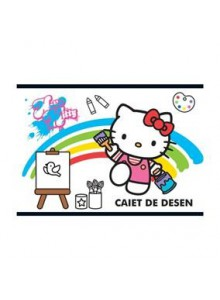 Caiet Capsat 17x24cm 16 Desen Hello Kitty