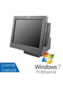 Sistem POS IBM 4846-565, Intel Celeron 2.53Ghz, 2Gb DDR2, 80Gb HDD, Display 15 inch TOUCH SCREEN + Windows 7 Professional