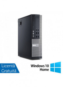 Calculator DELL 9020 SFF, Intel Core i5-4690 3.50GHz, 8GB DDR3, 250GB SATA, DVD-RW + Windows 10 Home
