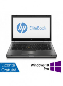 Hp EliteBook 8470p, Intel Core i5-3320M Gen. 3, 2.6GHz,4Gb DDR3. 320Gb SATA II, DVD-RW, 14 inch LED-Backlit HD + Windows 10 Pro