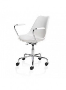 Scaun Office CUBETRADE FL20405 Model de Lux, Alb / Metal