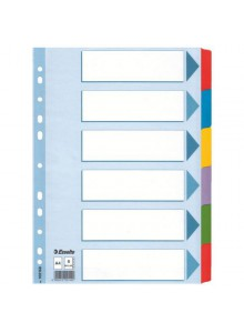 SEPARATOARE INDEX CARTON 1-12 COLOR MYLAR ESSELTE